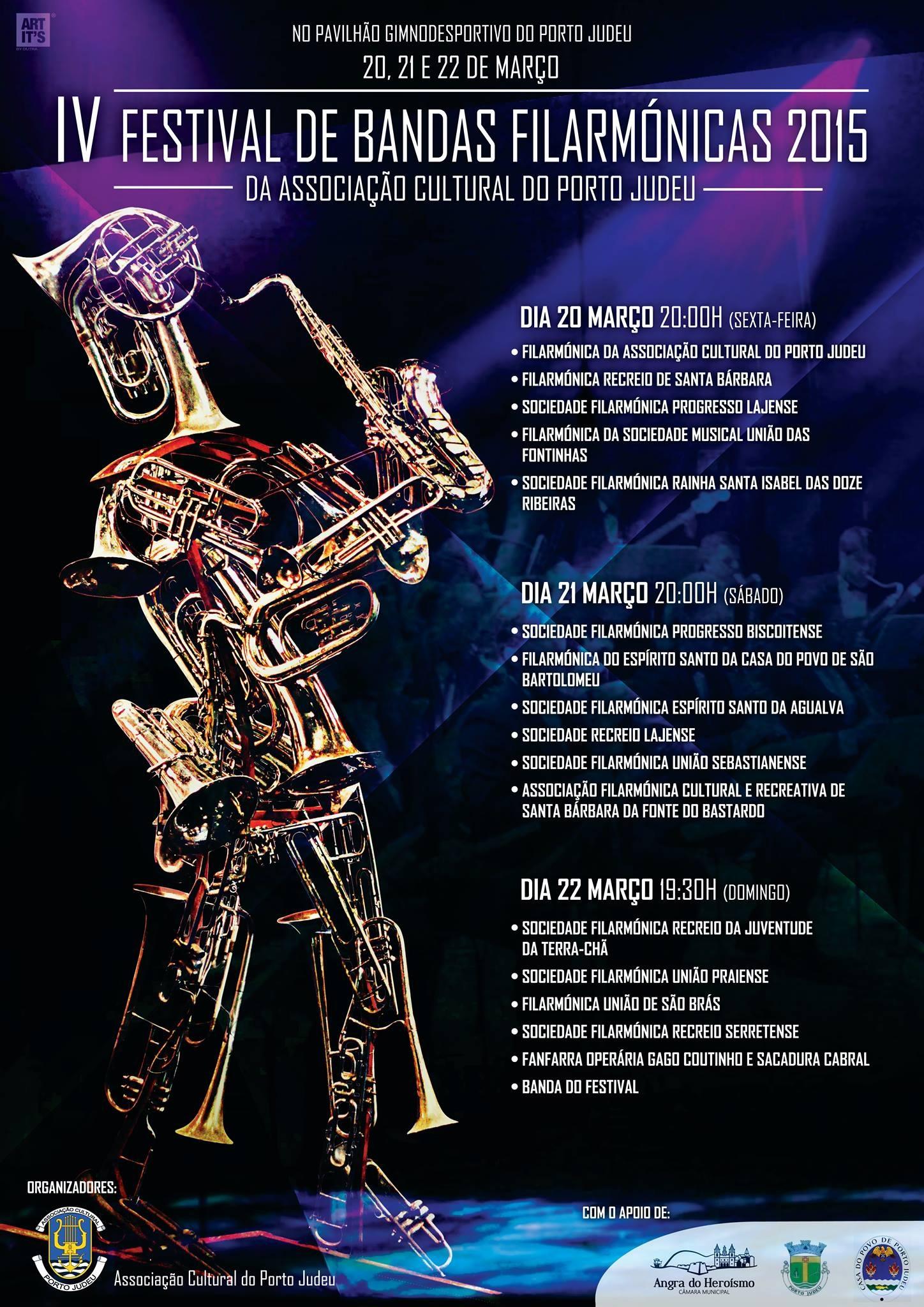 Bandas filarmónicas em festival no Porto Judeu