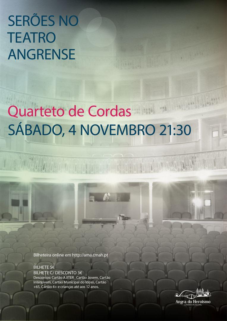 Concerto com quarteto de cordas em Serões no Teatro Angrense