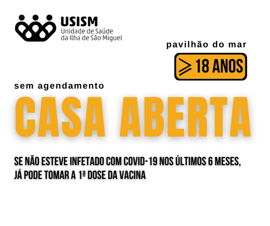 Vacinação sem agendamento na Terceira e em São Miguel